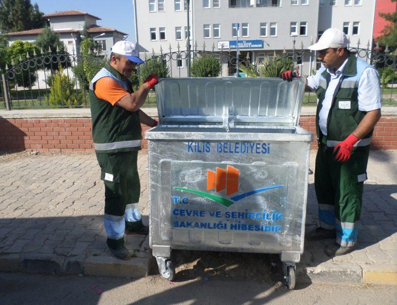 Kilis Belediyesi Ayaklı Çöp Kova